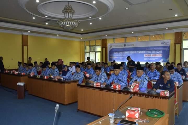 Bupati Syahirsah Hadiri Rakor Sensus Penduduk 2020