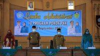 Bupati Sukandar Buka Lomba Administrasi 10 Program Pokok TP PKK